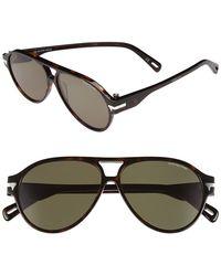 G-Star RAW Men'S 57Mm Aviator Sunglasses - Havana - Lyst
