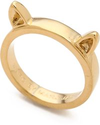 Marc By Marc Jacobs - Cat Ears Ring Oro - Lyst