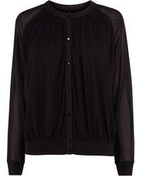 Karen Millen Draped Jersey Shirt - Lyst