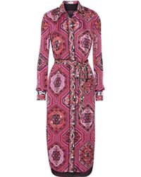 Emilio Pucci Embellished Printed Silkcharmeuse Dress - Lyst
