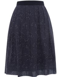 Chinti & Parker Constellation-print Silk Skirt - Lyst
