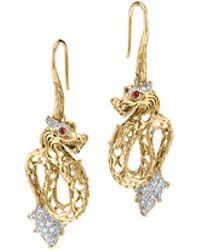 John Hardy Batu Naga 18K Gold & Diamond Dragon Drop Earrings - Lyst