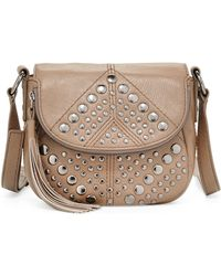 Isabella Fiore - Bellmore Studded Leather Crossbody Bag - Lyst