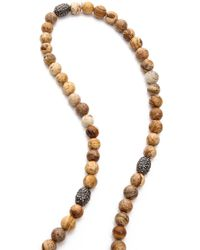 Hipchik Couture - Agate Y Necklace - Beige - Lyst