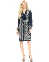 Versace Long Sleeve Dress  Blacksilver - Lyst