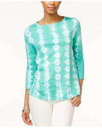 American Living - Tie-dyed Top - Lyst