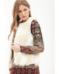 Forever 21 - Contemporary Open-front Faux Fur Vest - Lyst