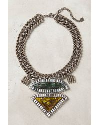 Dannijo Silver Cubitalia Necklace - Lyst
