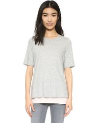 Vince - Double Layer Colorblock Tee - Lyst