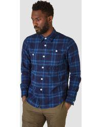 FDMTL - Indigo Check Shirt Indigo - Lyst
