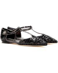 Dolce & Gabbana Bellucci Sequined Ballerinas - Lyst