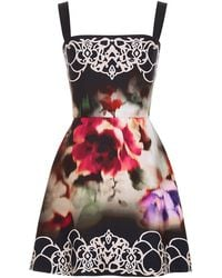 Elie Saab Crepe Cady Short Dress - Lyst