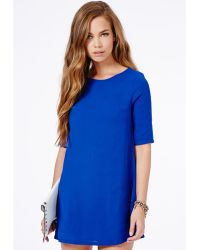 Missguided Ponika Swing Shift Dress In Cobalt Blue - Lyst