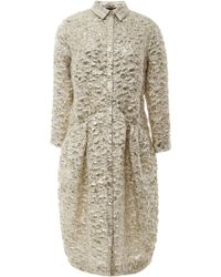 Simone Rocha Metallic Cloquã Shirt Dress - Lyst