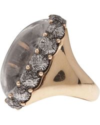 Federica Rettore - Cabochon Oval Cocktail Ring - Lyst