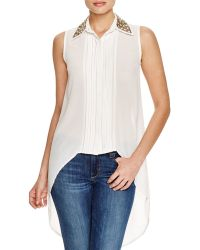 Sienna Rose - Sleeveless Embellished Collar Top - Compare At $99 - Lyst