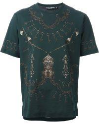 Dolce & Gabbana Key and Chain Print Tshirt - Lyst