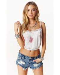 Jen's Pirate Booty Coco Crop Top white - Lyst