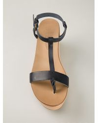 NDC - T-bar Wedged Sandals - Lyst