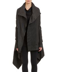 DRKSHDW by Rick Owens Twill Asymmetric Button Jacket - Lyst