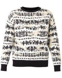 Alexander McQueen Unicorn Fair Isle-Jacquard Sweater - Lyst