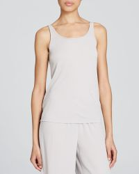 Eileen Fisher Silk Long Camisole silver - Lyst