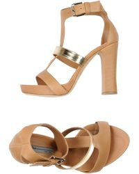 Vic Sandals brown - Lyst