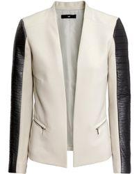 H&M Brown Figure-Fit Jacket - Lyst