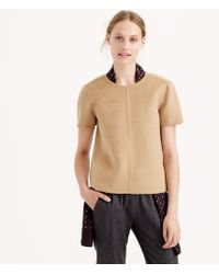 J.Crew Collection Double-faced Cashmere Tee - Lyst