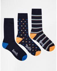 Bench - 3 Pack Socks - Lyst
