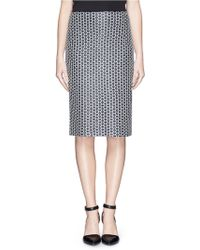 St. John Paillette Box Knit Pencil Skirt - Lyst