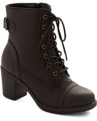 ModCloth | Where Theres A Willamette Boot in Black | Lyst
