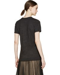 Rodarte Charcoal And Gold Foil Rohearte T_Shirt - Lyst