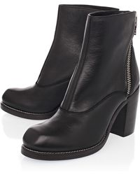 McQ by Alexander McQueen Nazrul Black Curved Zip Ankle Boots - Lyst