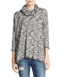 Bobeau - Space Dyed Cowlneck Jumper - Lyst