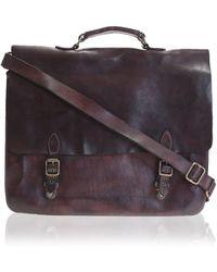 Campomaggi | Dark Brown Leather Satchel | Lyst