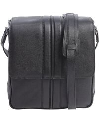 Tod's Black Leather Small Messenger Bag - Lyst