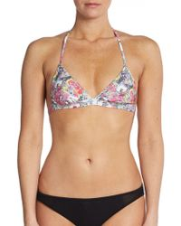 Erdem India Triangle Bikini Top - Lyst