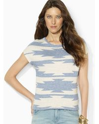 Ralph Lauren Lauren Sahrita Short Sleeve Sweater - Lyst