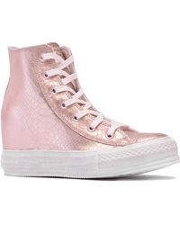 Converse Leather Chuck Taylor Platform Plus - Lyst