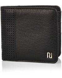 River Island | Black Perforated Cardholder Black Chunky Perforated Wallet Black Perforated Workbag Black Perforated Front Backpack | Lyst