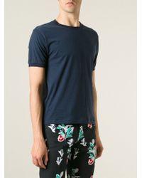 Thom Browne Crew Neck T-Shirt - Lyst
