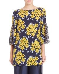 Suno | Floral Flutter-sleeve Tunic | Lyst