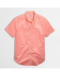 J.Crew Factory Shortsleeve Washed Shirt - Lyst