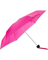 Lulu Guinness Micro Quilted Lips Umbrella pink - Lyst
