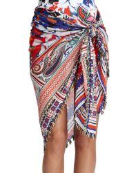 Etro Hawaiian Cotton  Silk Sarong - Lyst