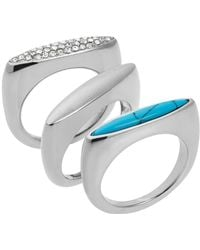 Michael Kors Rings, Set Of 3 blue - Lyst