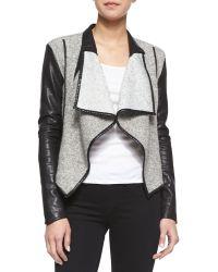 Blank - Sofa King Combo Drape Jacket - Lyst