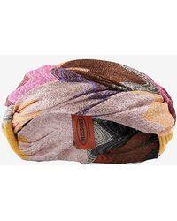 Missoni Braided Lurex Headband pink - Lyst