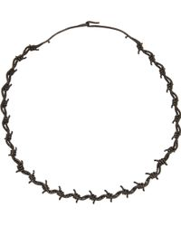 Lynn Ban - Black Diamond Black Rhodiumplated Sterling Silver Barbed Wire Choker - Lyst
